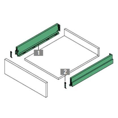 Nova Pro Scala Drawer Kit 600mm X 90mm(H) - Ice - 40kg Rated 2