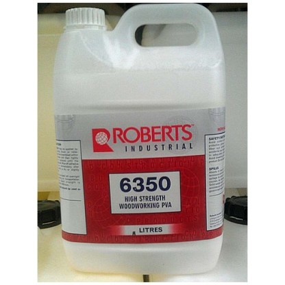 Woodworking Adhesive 6350 by Roberts.  5 Litres -  Professional Grade 1