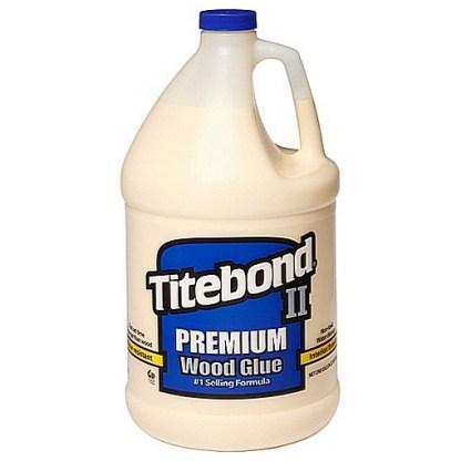 Titebond 2 Premium 3.785lt - Cross-linking PVA Wood Glue - Yellow colour - Dries Yellow