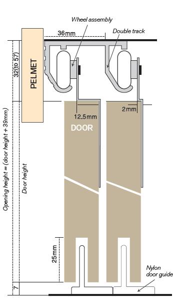 TT48348 Double Aluminium Track -  4850mm Long  -  Mill Finish 2
