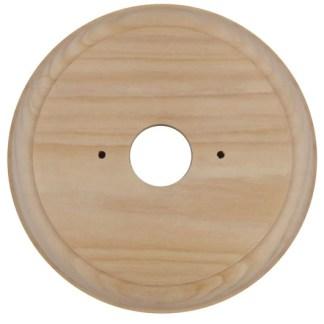 42P - Light Switch Mounting Block Classic Round Single Pine D115mm