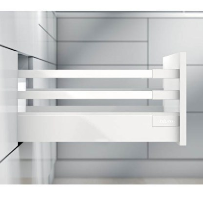 Blum Antaro Drawer Kit. 199mmH (D Series). Lengths 450mm to 550mm. Silk White - 30kg Rated 1