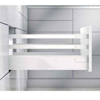 Blum Antaro Drawer Kit. 199mmH (D Series). Lengths 450mm to 550mm. Silk White - 65kg Rated 1
