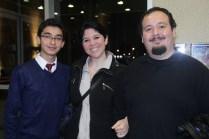 Gonzalo Alegría, Sandra Condeza y Héctor Cabaña.