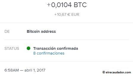 Ganar dinero en internet pago en bitcoin