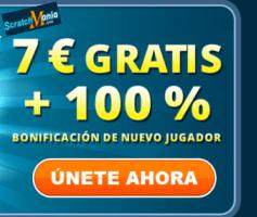 ScratchManía 7 euros gratis