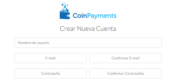 registro CoinPayments