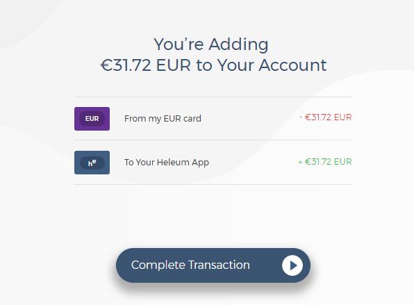Heleum añadir dinero