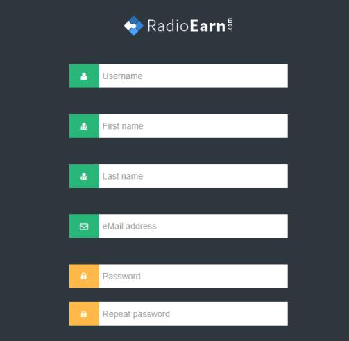 registro RadioEarn