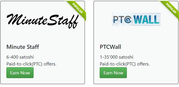 Muros de ofertas disponibles en Bitcoinsfor.me