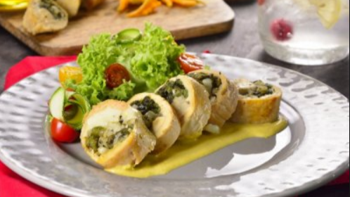 Receta de wrap de pollo adobado con ensalada fresca mixta