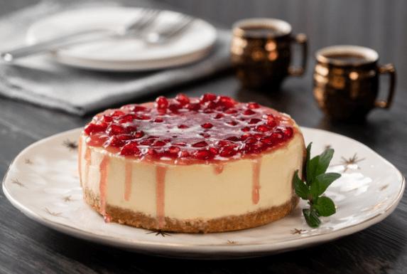 Receta de cheesecake de granada
