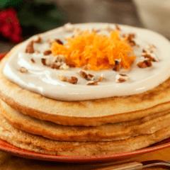 Receta de hot cakes de pastel de zanahoria