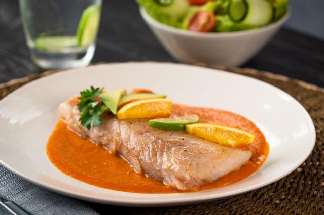 Receta de pescado con salsa morita