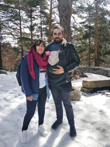 porteando en la nieve