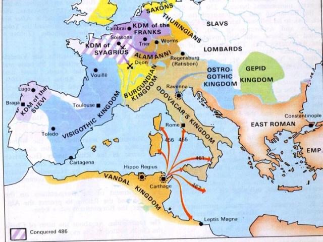 A partir de la entrada de los visigodos Roma ya no es la Roma clásica