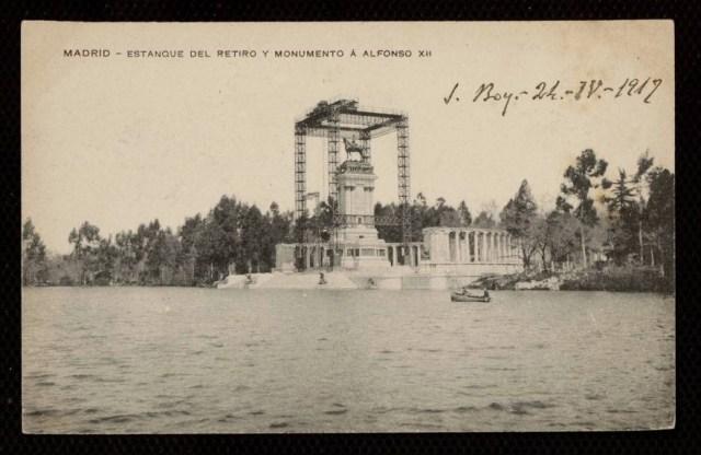 Colocación de la estatua de Alfonso XII