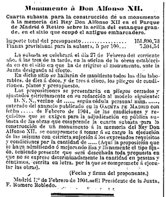 Gaceta de Madrid, 14 Febrero de 1904