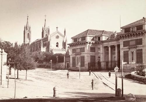 Fachada Norte del Museo del Prado; Muriel 1864 (Fuente: BDH-BNE)