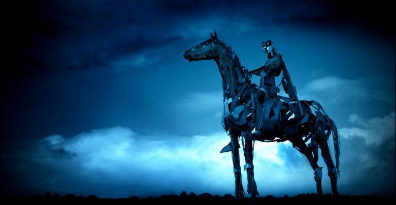 """""""Gaelic Chieftain"""", escultura de 1999 que conmemora la victoria de O'Donnell en Curlew Pass, en 1599."""
