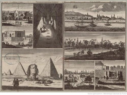Vues du Caire et de plusieurs pyramides aux environs (Bruin, Cornelis de (1652-1719) — Voyages — Égypte) [Bibliotèque Nationale de France]