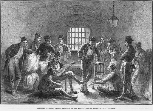 Prisioneros carlistas en las mazmorras de la Alhambra (1873)