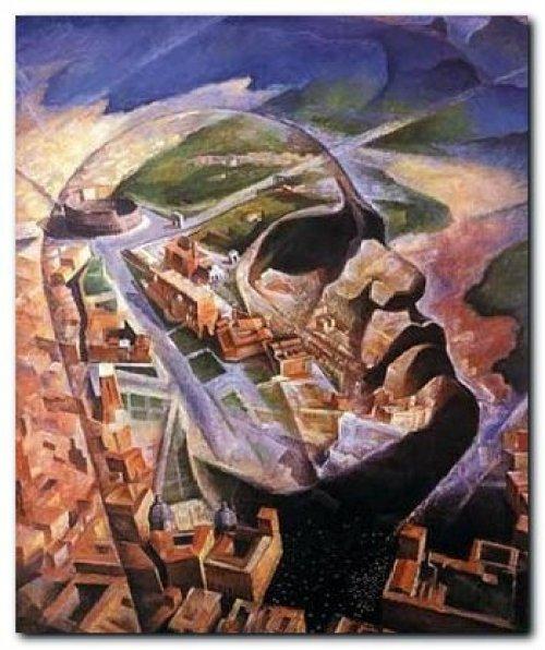 A.Gauro Ambrosi, Aeroritratto di Benito Mussolini aviatore