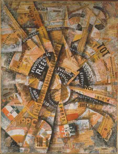 Manifestación intervencionista' (Manifestazione Interventista), de Carlo Carrà ( 1914)