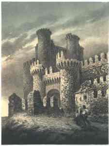 Castillo de Ponferrada, 1857 [Parcerisa]