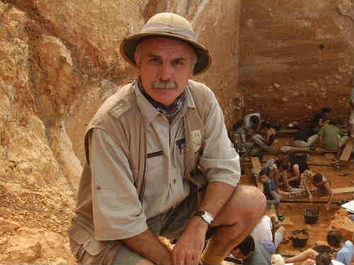 paleontólogo Eudald Carbonell, uno de los codirectores de la excavaciones del yacimiento de Atapuerca