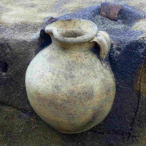 Jarra cerámica de más de 1.000 años intacta[Foto: Sydvestjyske Museer]