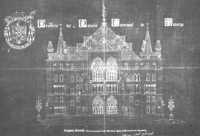 Plano de la Fachada del Palacio Episcopal