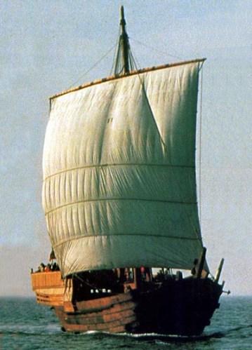 Réplica a escala natural de la coca hanseática de la segunda mitad el siglo 14, descubierta en 1962 en el puerto de Bremen