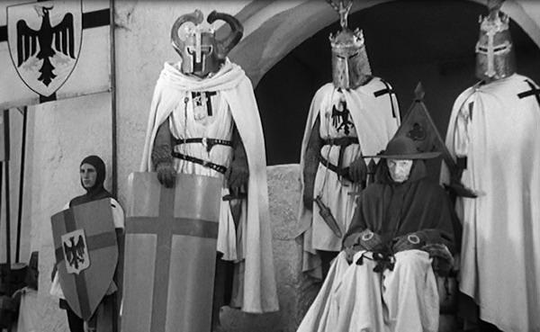 "Teutones en un fotograma de ""Alexander Nevski"", de S. M. Eisenstein, 1938"