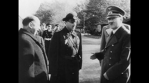"""Hitler y Bogdan Filov en el """"Pacto Tripartito"""""""