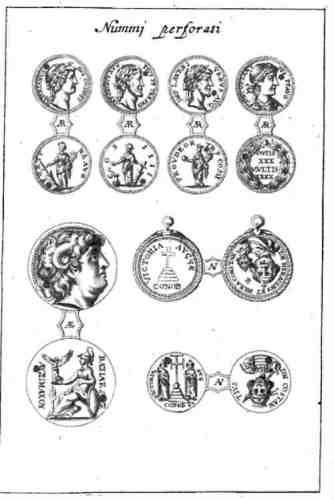 Ilustración de las monedas bizantinas encontradas en el tesoro.