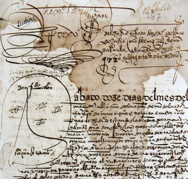 Testamento de Hernando Colón. 23839 P/3. Archivo Histórico Provincial de Sevilla.