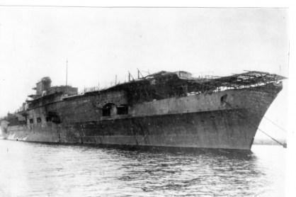 El Graf tras su captura y reflote por el Ejército Rojo, listo para su remolque.