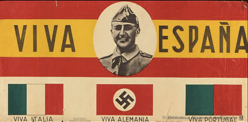 iva España : viva Italia : viva Alemania : viva Portugal Fecha 1938? Datos de edición [S.l. s.n. Zaragoza Ediciones Arribas