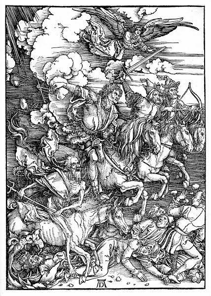 Los 4 Jinetes del Apocalipsis según Durero