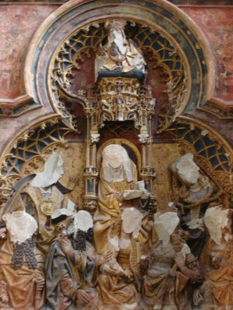 Bajo relieve en una capilla de la catedral de Utrecht