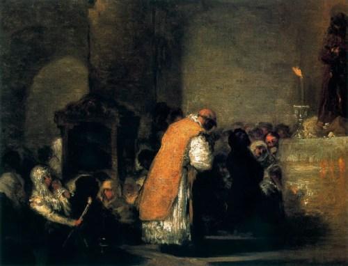 """Eugenio Lucas Velázquez.- """"La Misa de parida"""", (siglo XIX)"""