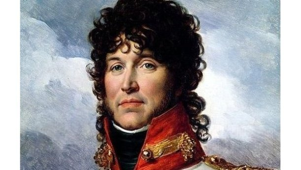Joaquín Murat, rey de Nápoles y mariscal de Francia. Retrato de François Gérard, en 1808. (detalle)