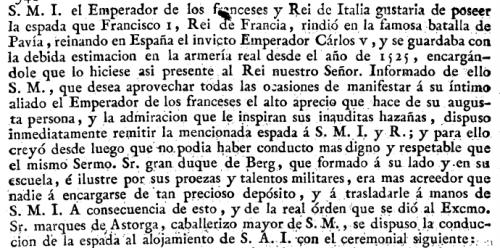 Gaceta de Madrid núm. 31, de 05/04/1808, páginas 339 a 340.