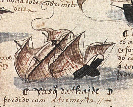 Hundimiento de los Sodré registrado en la documentación portuguesa de la época