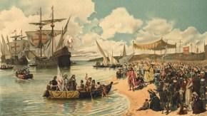 Llegada de Vasco da Gama a Calicut (India)