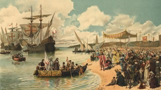 Llegada de Vasco da Gama a Calicut (India)