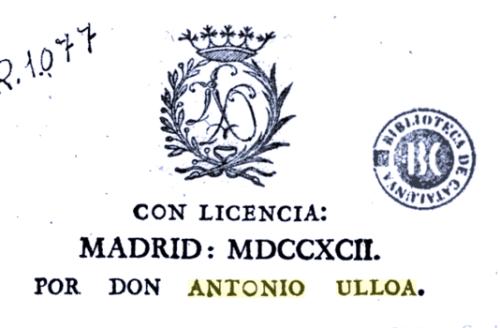Primera página de uno de los escritos impresos en la Imprenta de Ulloa