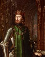 Juan I con el collar de la Orden de la Paloma