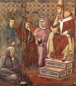 El papa Honorio III por Giotto